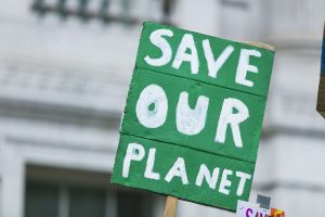 Save our planet Climate Change sign