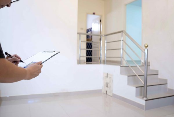 Empty house and blank room, the repairman checking list for looking the point to repair or prepare the home to the buyer.