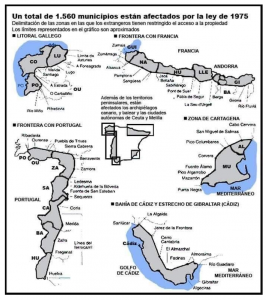 Map of affected areas